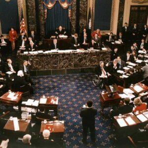 US Senate vote in the impeachment trial of US President Bill Clinton