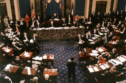 US Senate vote in the impeachment trial of US President Bill Clinton