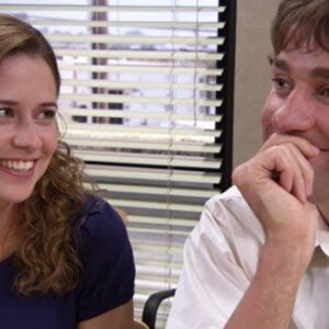 Pam (Jenna Fischer) and Jim Halpert (John Krasinski) from NBC's The Office