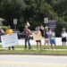 Group of local protestors rallying in Carrollton